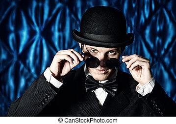 dandy boy - Portrait of an elegant old-fashioned artist man...