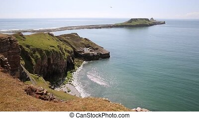 Worms Head Rhossili Gower peninsula - Worms Head Rhossili...
