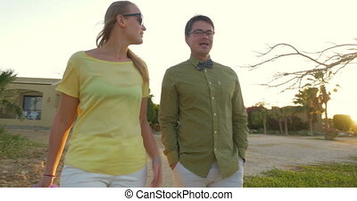 Couple Went Out for a Walk