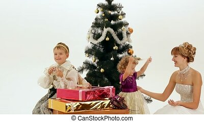 Nobles Who Celebrate Christmas - Happy Family celebrates...
