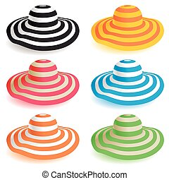 Floppy beach hat - A selection of floppy beach hats in...