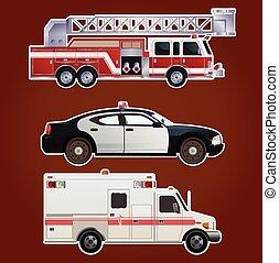 automobili, collezione, emergenza