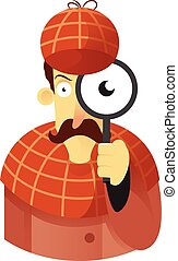 Detective - Vector image of a Detective with a magnificent...