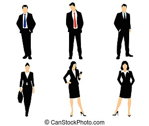 White collar workers - Vector illustration of a white collar...