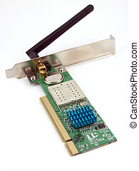 Wireless network card on the white background.