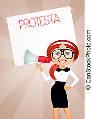 protest - illustration of protest