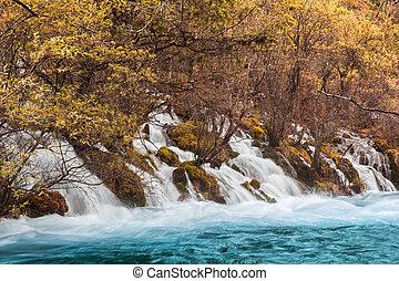 Shuzheng waterfall jiuzhaigou scenic