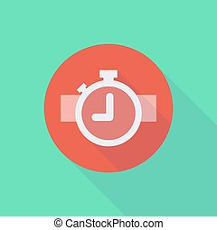 Long shadow do not enter icon with a timer - Illustration of...
