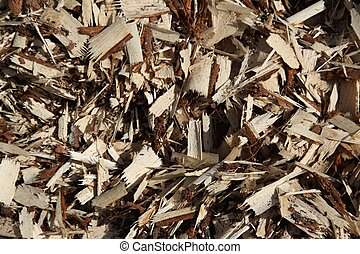 wood chips as natural background