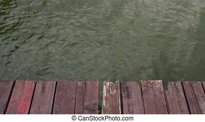 Grunge wooden platform. - Grunge rustic wooden platform is...
