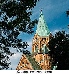 Building Of Sofia Kyrka (Sofia Church) In Stockholm, Sweden....