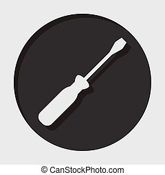 information icon - white screwdrive - information icon -...