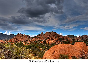 Texas Canyon - Stormy weather in Texas Canyon in Southwest...