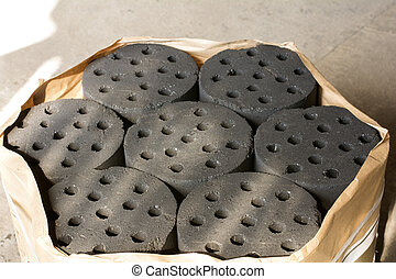 carbón, Briquetas