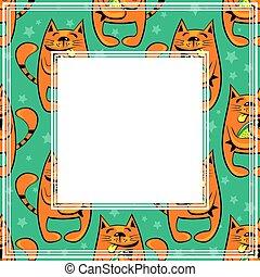 happy cats border