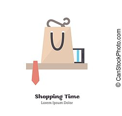 Shopping time Vector Illustration - Icon delivery of goods...