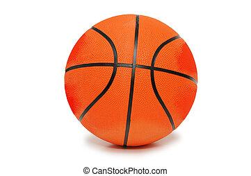 Orange basketball isolated on the white background - Orange...