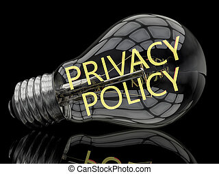 Privacy Policy - lightbulb on black background with text in...