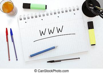 World Wide Web - WWW - World Wide Web - handwritten text in...