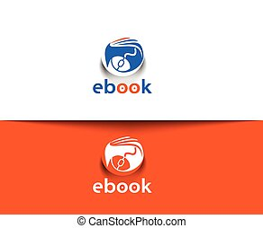 ebook Logo - Symbol of ebook vector Logo design
