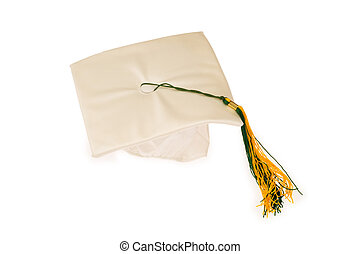 Graduation cap isolated on the white background