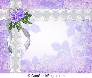 Floral border lavender roses - Image and Illustration...