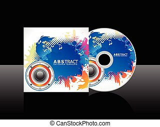 abstract colorful artistic music cd.eps