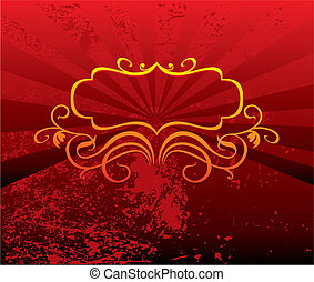 Decorative red background