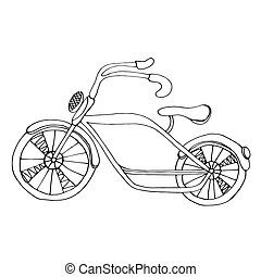 bicycle - Cute simple sketch of the bicycle, Isolated on...