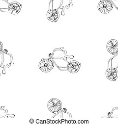 bicycles background - Bicycles, seamless pattern Vector...