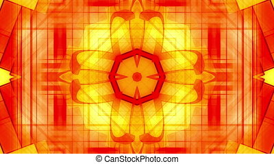 Geometric orange yellow VJ loop - Animated geometric orange...