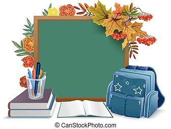 Back to school. Blackboard