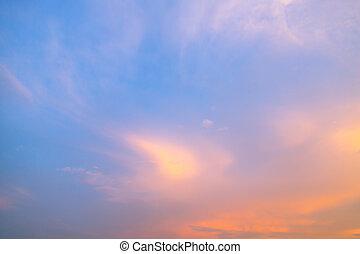 Sunset Sky ( Filtered image processed vintage effect. )