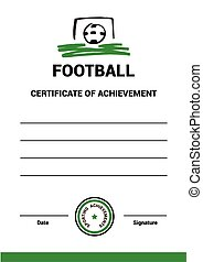 Vector Certificate Template Football