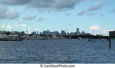 Miami Fl Ocean Skyline Time Lapse