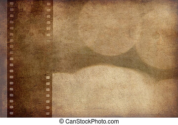 grunge background with film strip - the grunge background...