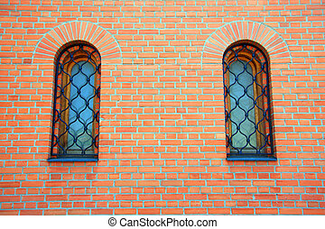 architectural background of bricks and window