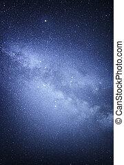 Milky way. - Milky way galaxy. Stars at night sky.