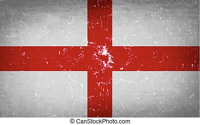 Flags England with broken glass texture Vector - Flags of...