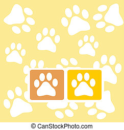 paw prints - background with pawprints