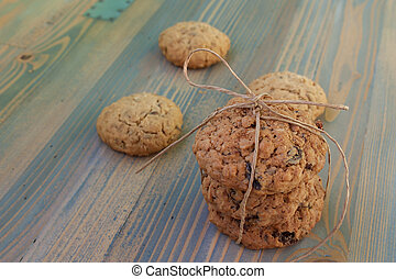 Sweetmeats - Two types of oatmeal cookies with raisins and...