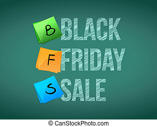 black friday sale post memo chalkboard sign illustration...