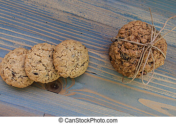 Sweetmeats - Two types of oatmeal cookies with sunflower...