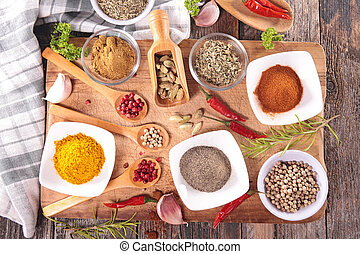 assorted spices and herbs