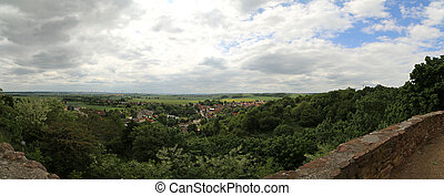 Panoramic View From Castle Schweinsburg - Panoramic view...