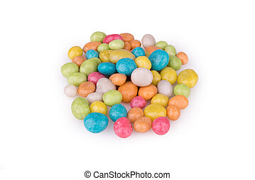 colorful sweet dragees isolated