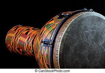 africano, tambor,  conga,  Djembe