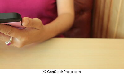 Woman Chilled Out With Smart Phone, Stock Video