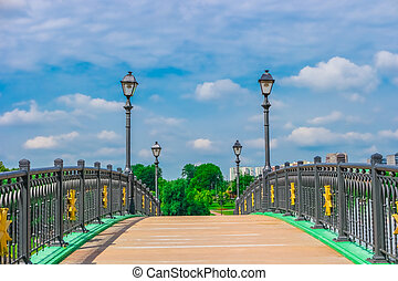 Bridge in Tsaritsyno Park, Moscow