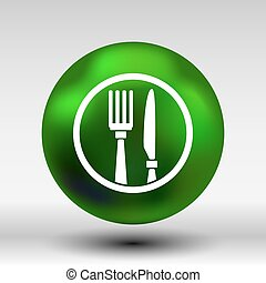 Food service vector logo design template cafe